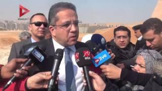 بالفيديو| وزير الآثار يتفقد أعمال تطوير هضبة أهرامات الجيزة