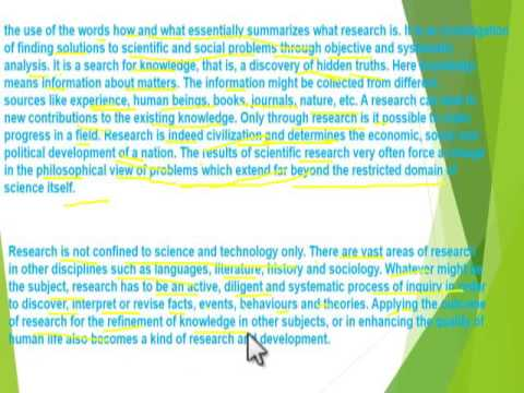 research methodology, part 1