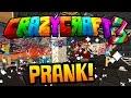 "Minecraft CRAZY CRAFT 3 ""MY FIRST PRANK!"" #9 (Soul Cage Prank) - SMP"