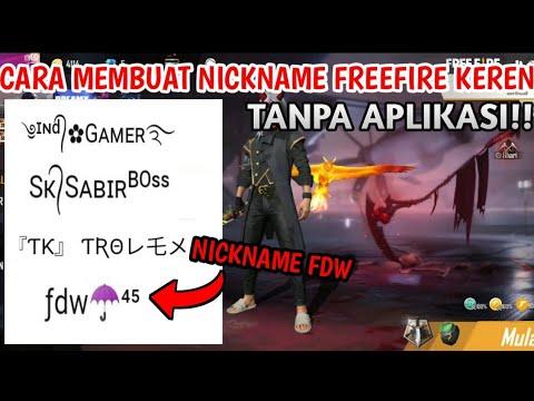 Tutorial cara membuat nick name keren.