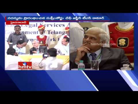 CM KCR Speech At 14th Legal Cell Authority Summit In Hyderabad | Live | HMTV