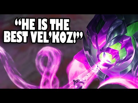 RANK 1 VEL'KOZ WORLD DEFENDED BY TEAMMATES - League of Legends