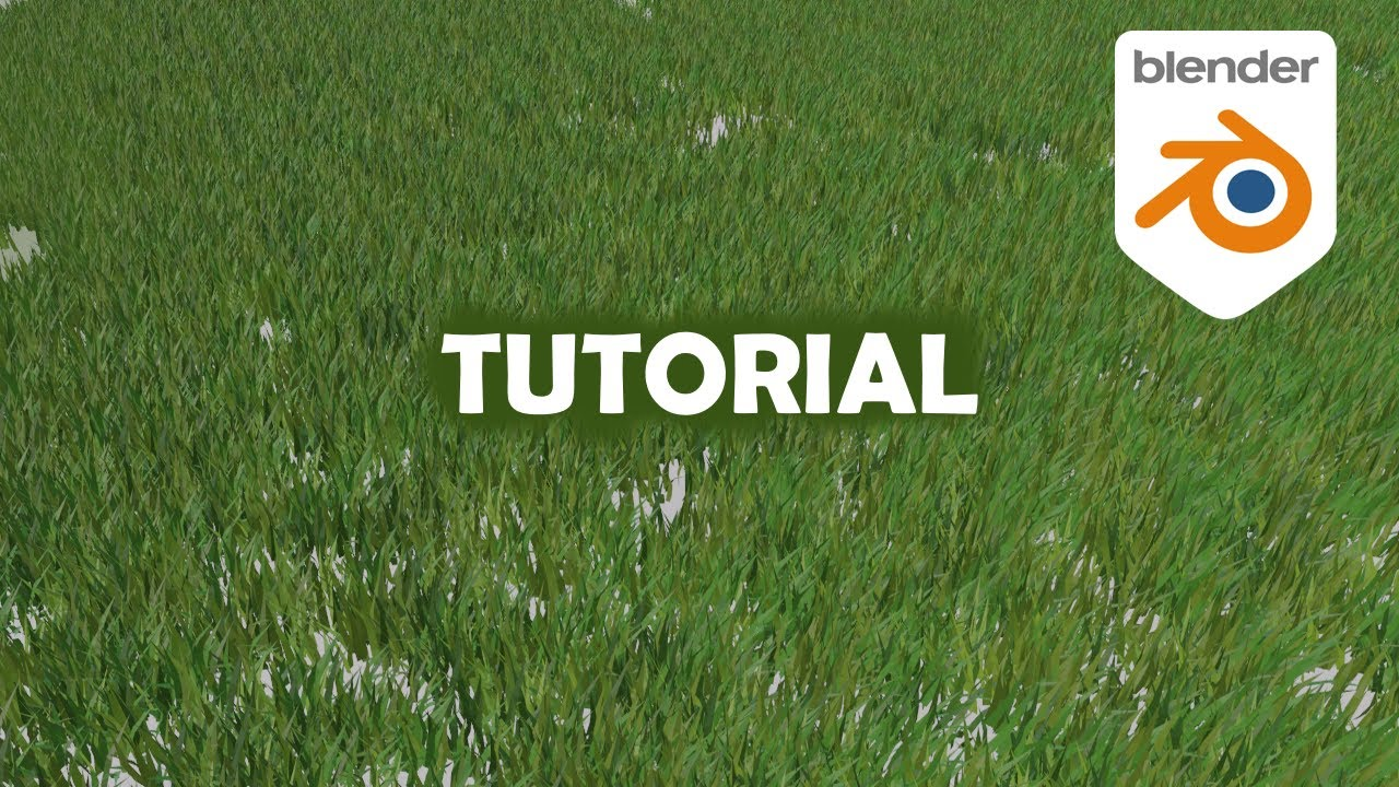 How to create GRASS in BLENDER 2.9 in 8 minutes - Blender Beginner Tutorial