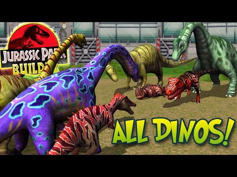 ALL MAXED DINOSAURS SPECIAL + STATS! - Jurassic Park Builder | HD