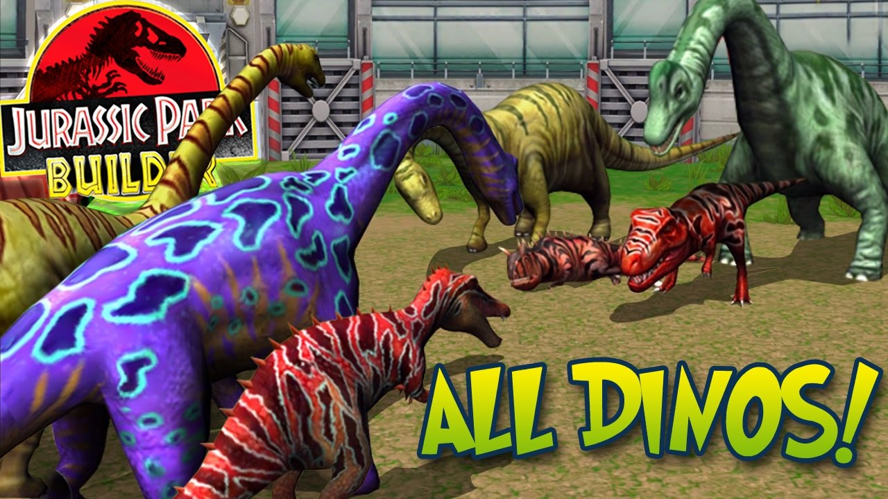 ALL MAXED DINOSAURS SPECIAL + STATS! - Jurassic Park ...