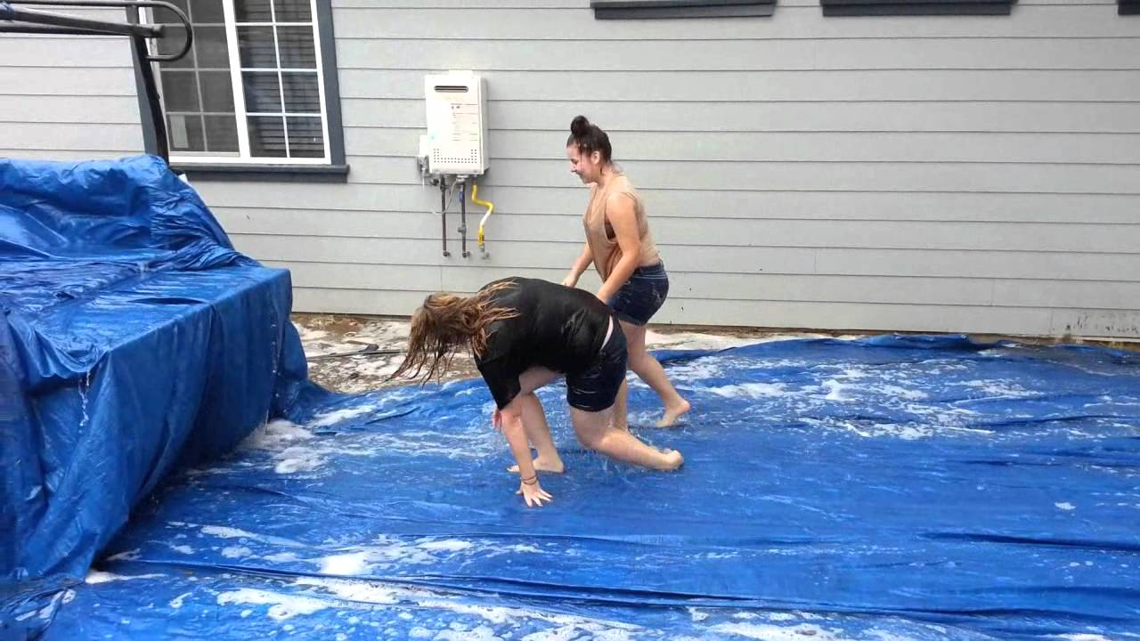 S Make Pool Out Of Tarp And Truck