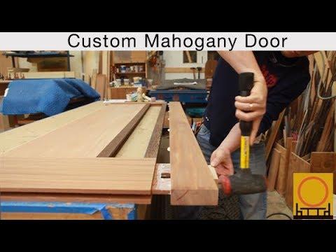 Berkeley Mills Shop - Custom Mahogany Door with Custom Art Glass