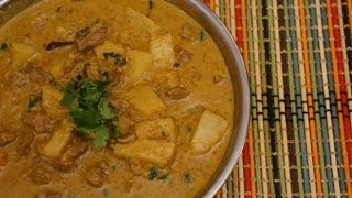 Mutton Pineapple & Coconut Milk Curry Recipe - Indian Cooking Lamb Mild Masala
