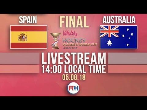 BRONZE MEDAL Spain V Australia | 2018 Hockey Women's World Cup | FULL MATCH LIVESTREAM