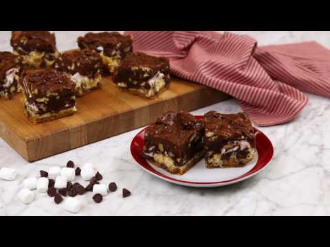 Double Chocolate Rocky Road Cookie Bars