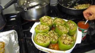 Cajun Stuffed Bell Peppers