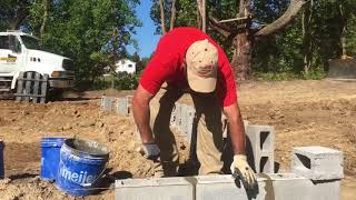 How to Lay Block for New Construction