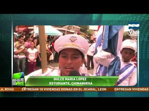 Desfile patrio en Chinandega