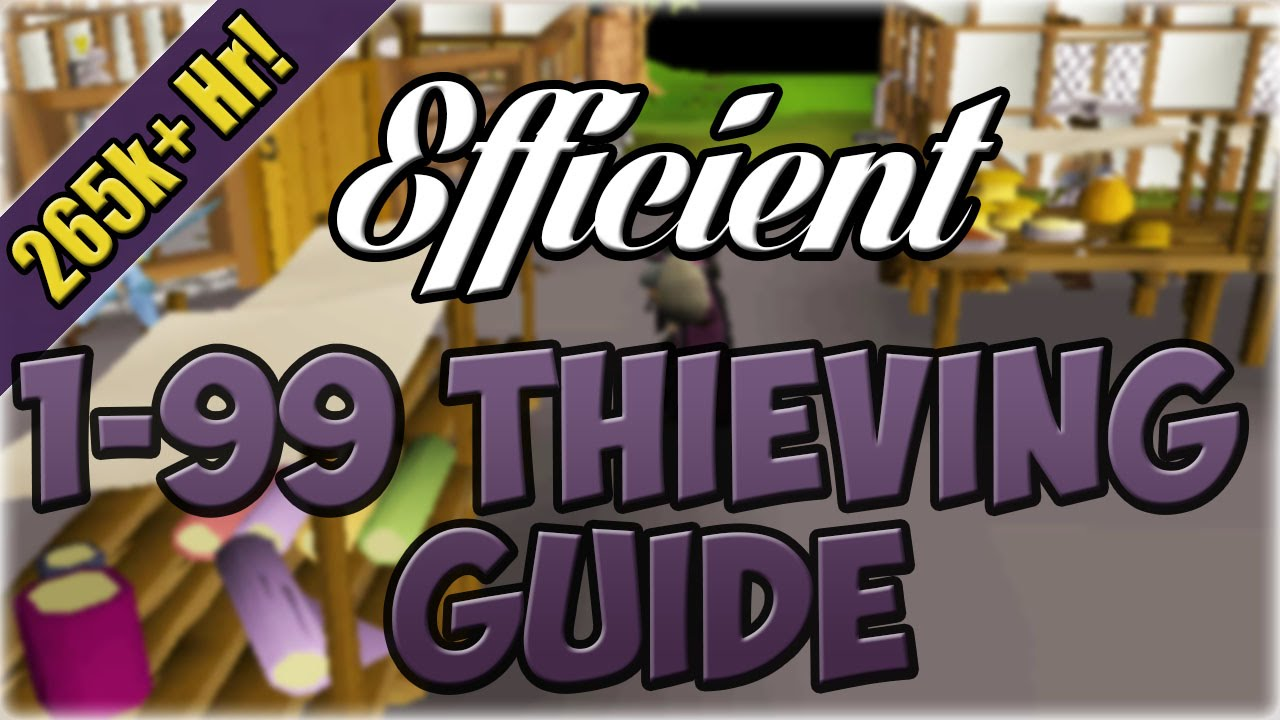 Efficient 1 99 Thieving Guide Oldschool 2007 Runescape Youtube
