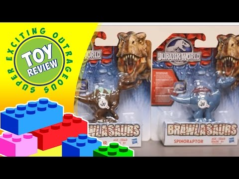 Brawlasaurs Velociraptor And Spinoraptor Jurassic World Hasbro Action Figures - Toy Review