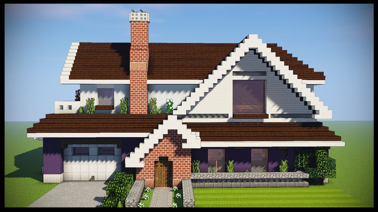 Minecraft Tutorial How To Build A Large Suburban House Youtube