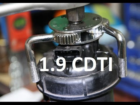How To Replace Fuel Filter 1 9 Cdti Jtdm Astra Vectra