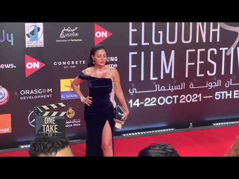 فستان رانيا يوسف يثير جدل افتتاح مهرجان الجونة السينمائي