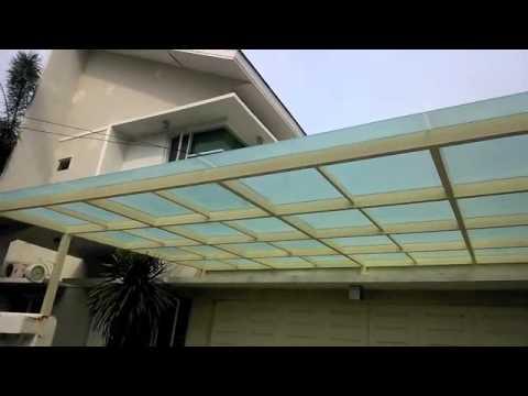 kanopi baja ringan atap kaca cara pasang youtube