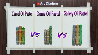 Oil Pastel Comparison Drawing (Apple) / Camel vs Doms vs Gallery Oil Pastel / Step by Step screenshot 2