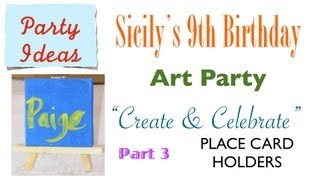 How To Make Adorable Mini Canvas On Easel Art Party Place Card Holders - Part 3 Of 12 {party Ideas}