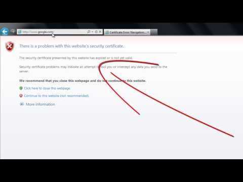 How to Remove Security Certificate error on Internet Explorer