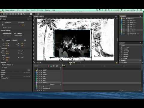 Adobe Edge Animate (tutorial 8) Custom Video Player