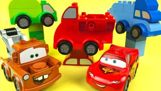 Lego Duplo Mix and Match Cars and Truck Toys for Kids with Tow Truck Mater and McQueen