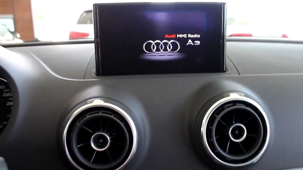 audi a3 2013 multimedia interface mmi display youtube. Black Bedroom Furniture Sets. Home Design Ideas