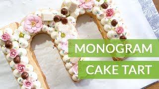 EASY MONOGRAM COOKIE CAKE TART - Mother