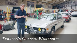 BMW E9 3.0 CSi - the 50 year old classic coupé | Tyrrell's Classic Workshop