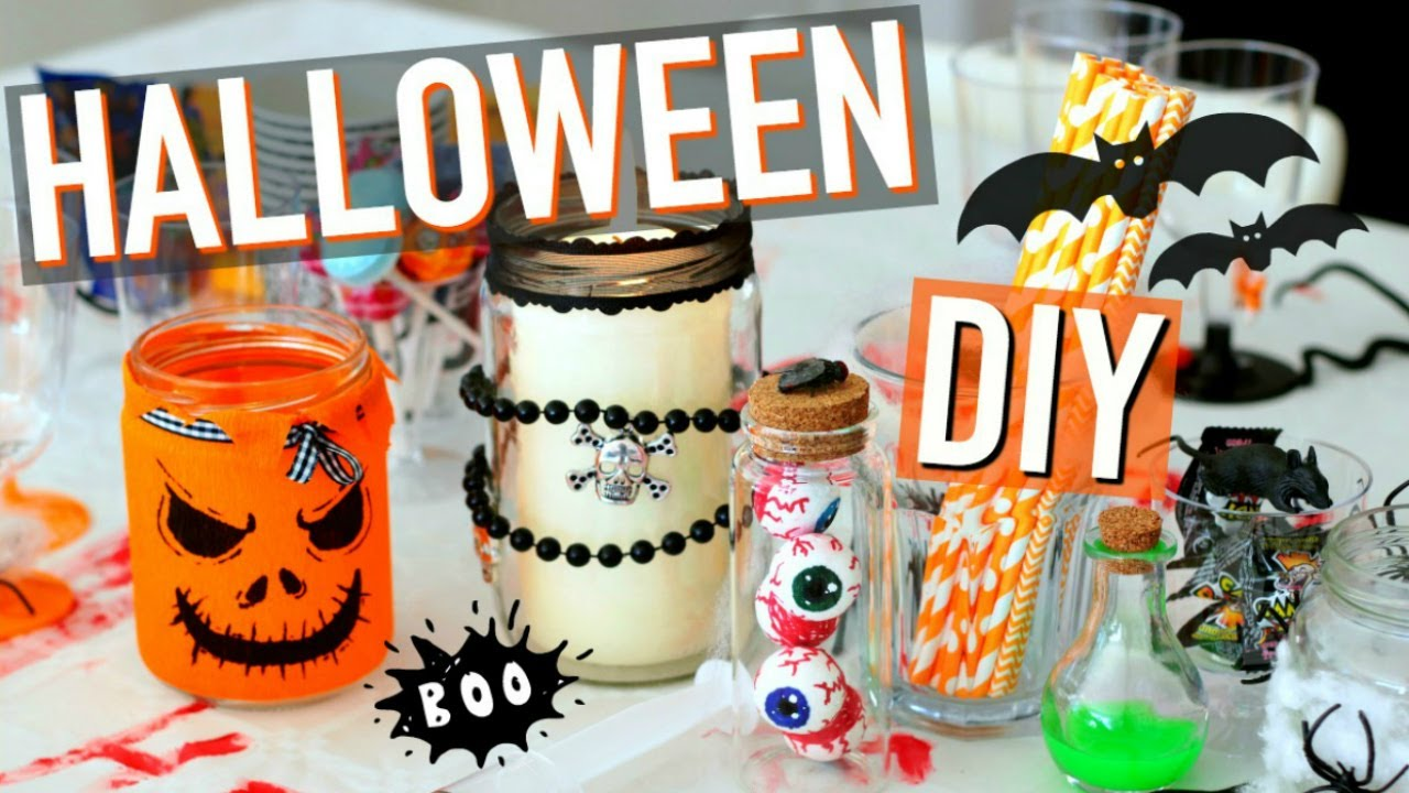 diy halloween fran ais d coration facile et rapide youtube. Black Bedroom Furniture Sets. Home Design Ideas