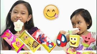 [rasa-rasa] Jessica Jenica Makan Es Krim SpongeBob + Patrick + Spiderman 💖 Ice Cream Campina
