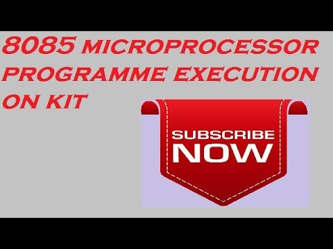 8085 microprocessor program execution on kit