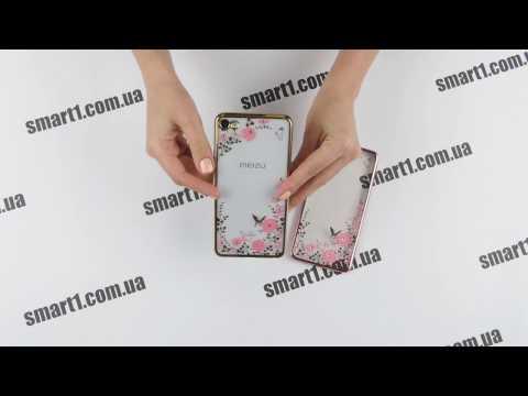 силиконовый TPU чехол со стразами на примере телефона Meizu U20