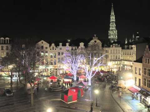 Brussels Grand Place Time Lapse
