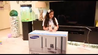 Samsung Home theatre HT-J5550WK unboxing and intalling part 2