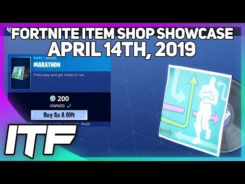 Fortnite Item Shop *NEW* MARATHON MUSIC + DIGITAL CAMO!  [April 14th, 2019] (Fortnite Battle Royale)