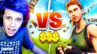 FAN CHALLENGED me to a 1V1 WAGER LIVE! (Fortnite Battle Royale)