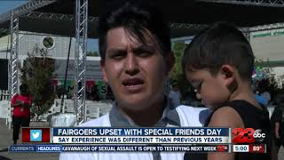 Fairgoers upset with Special Friends Day at fair
