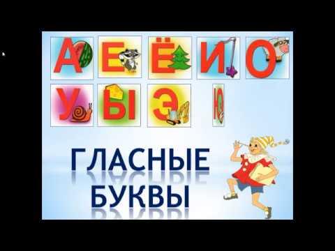 Мультфильм гласные буквы