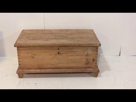 19th Century Old Pine Rustic Linen Chest - Pinefinders Old Pine Furniture Warehouse