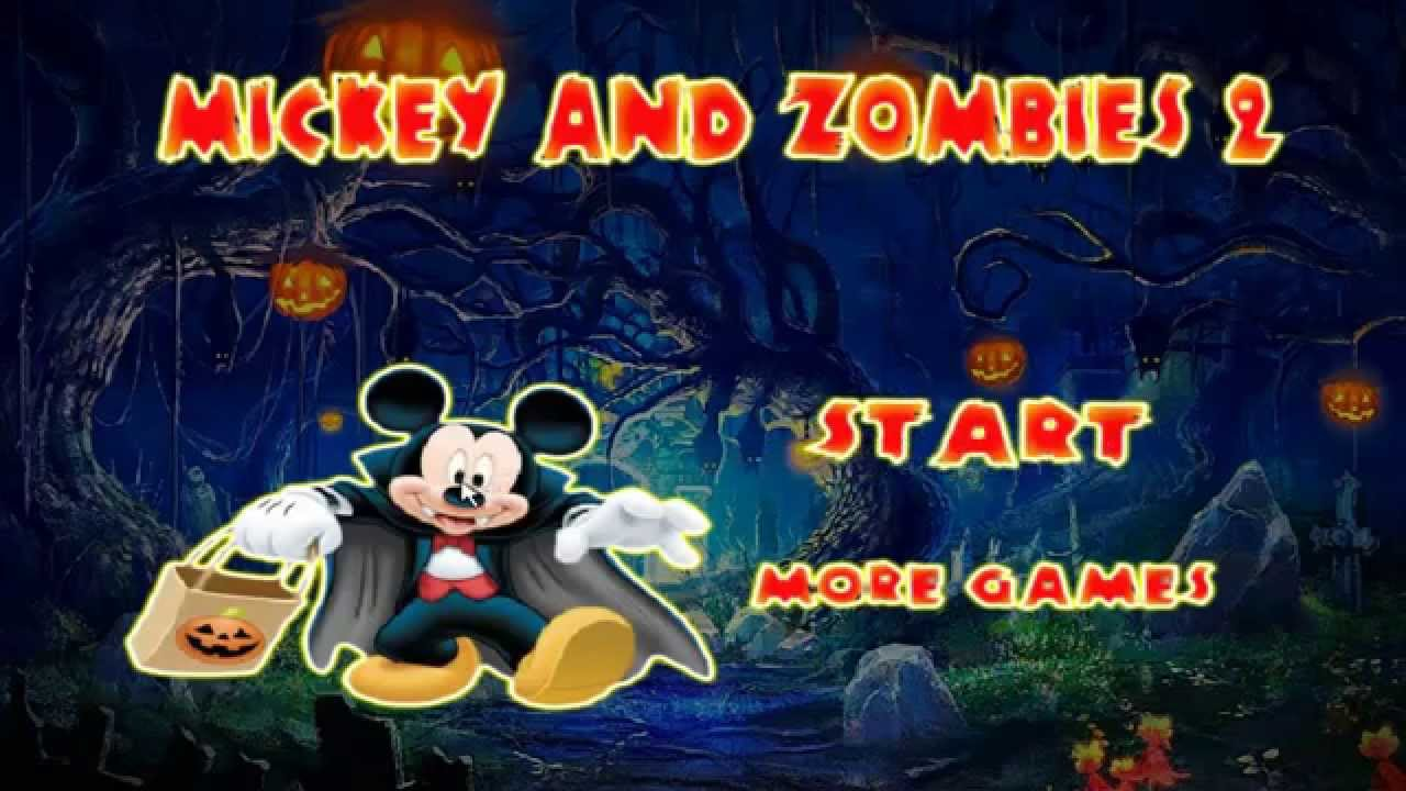 Mickey and Zombies - Mickey Mouse Games - Mickey Vs Zombies