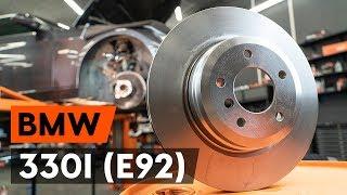 Kā nomainīt Bremžu diski BMW 3 Coupe (E92) - tiešsaistes bezmaksas video