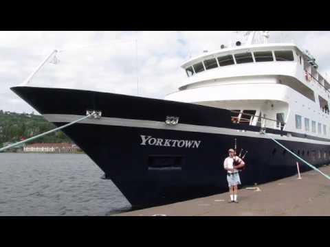 Yorktown Cruise Ship And Bagpipe Player YouTube - Cruise ship yorktown