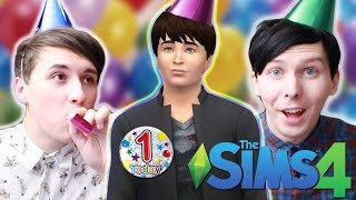 DIL'S FIRST BIRTHDAY - Dan and Phil Play: Sims 4 #20