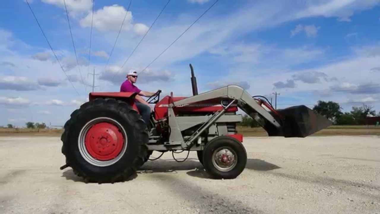 massey ferguson 165 2wd tractor with loader youtube. Black Bedroom Furniture Sets. Home Design Ideas