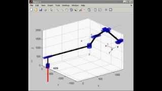 MATLAB + Robotics Toolbox   KUKA KR6 + 2 based axes  Welding