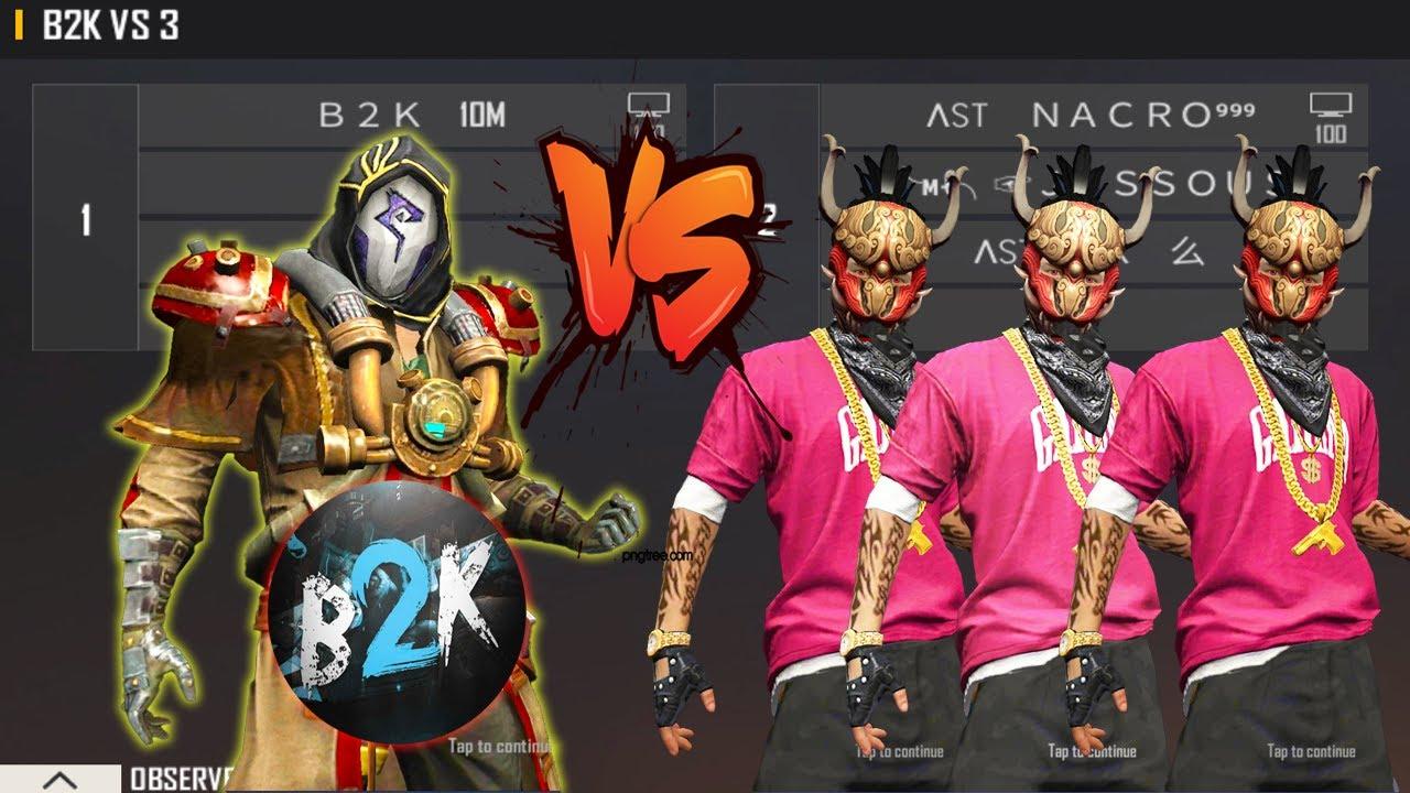 B2K VS 3 PRO SEASON 2 PLAYERS   HIPHOP CALL B2K A NOOB  - BORN2KILL FULL GAMEPLAY AWM KING