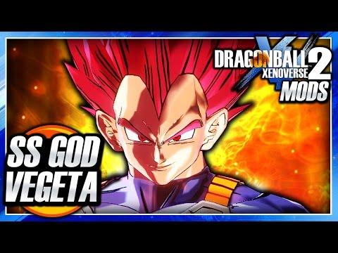 Dragon Ball Xenoverse 2 PC: Super Saiyan God Red Vegeta DLC (DB Super Manga) Mod Gameplay